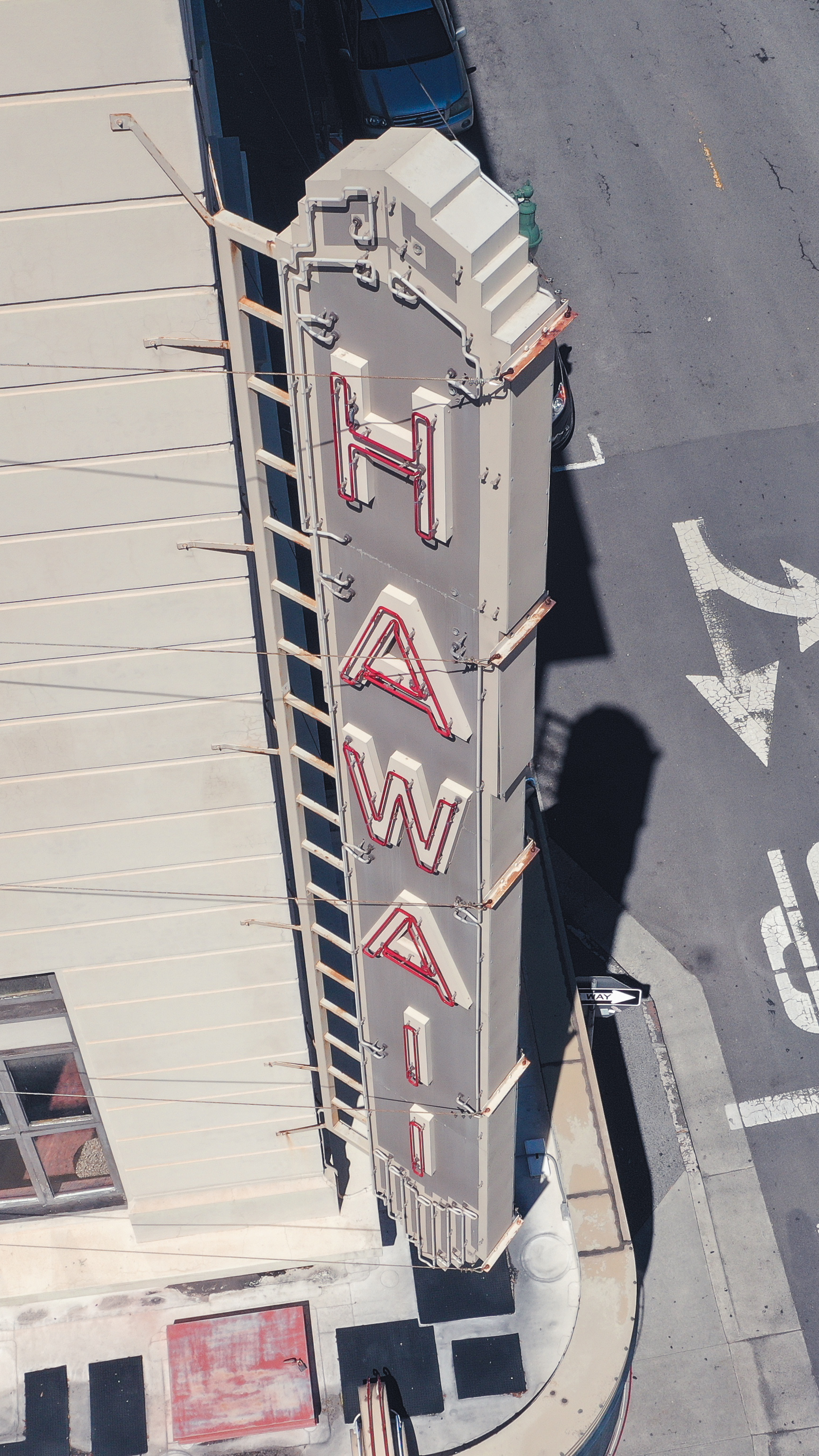 Hawaii Theater's Iconic Hawaii Sign