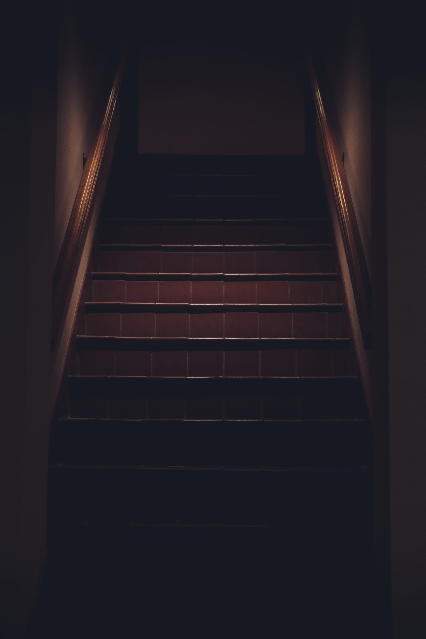 Dimly Lit Staircase