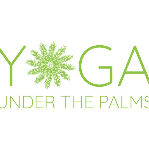 yoga under the palms logo