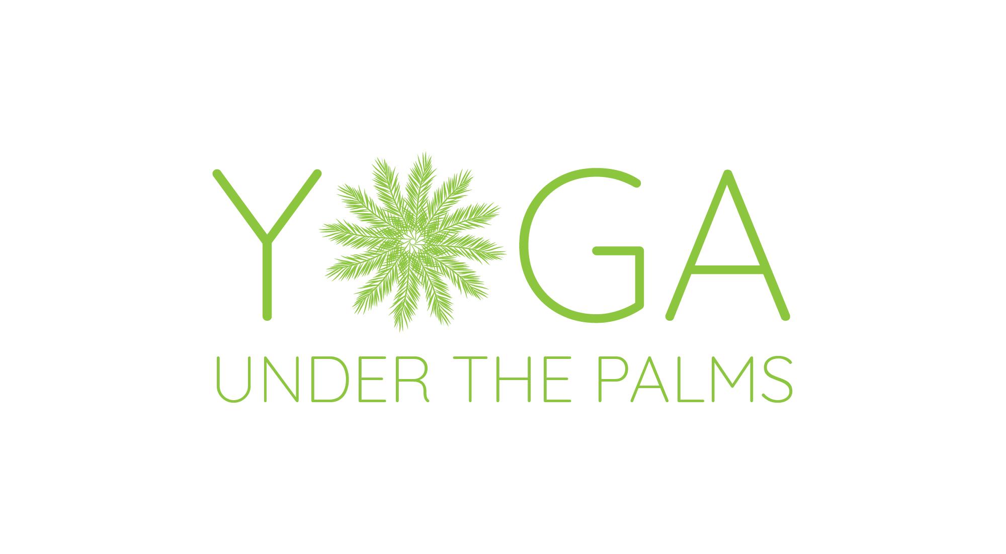 yoga under the palms logo